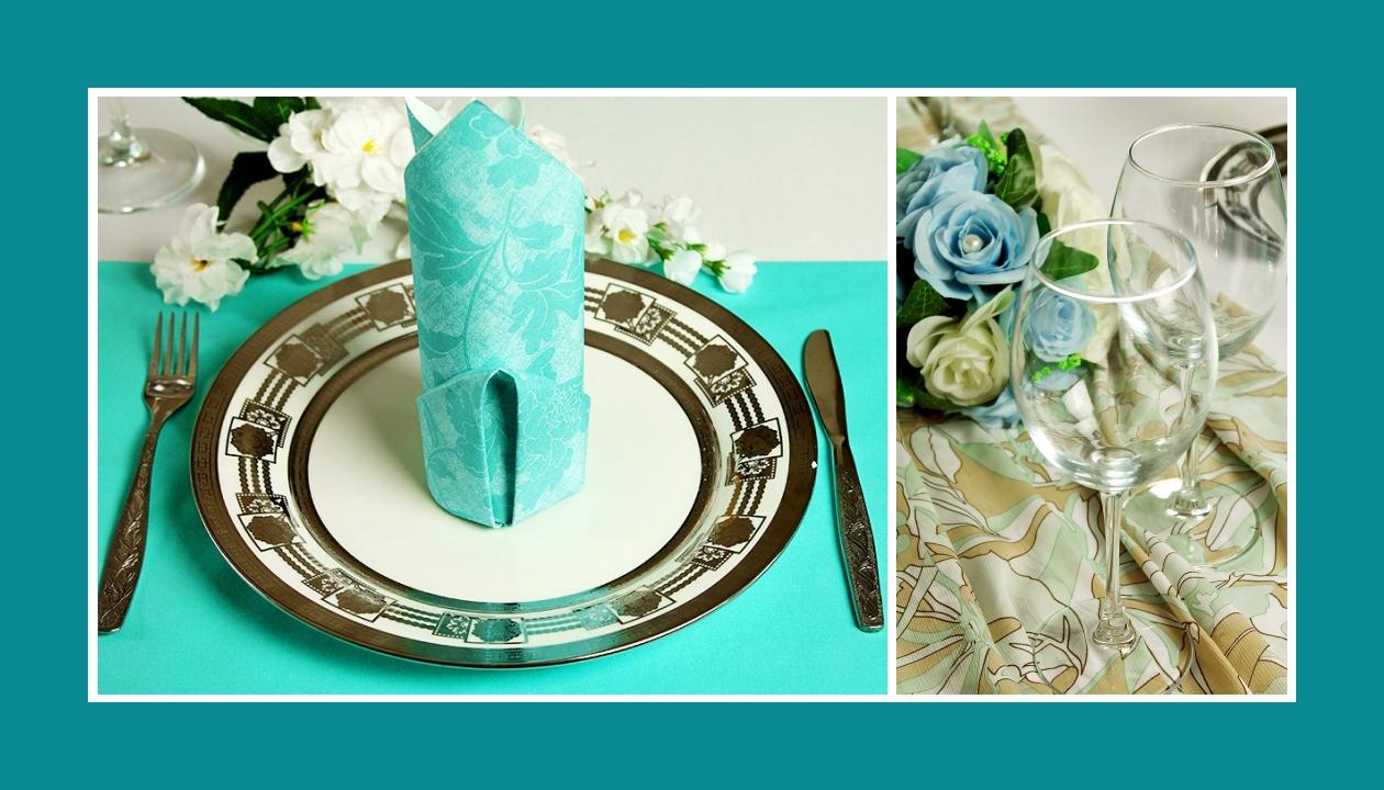 Deko Idee elegante Hochzeit in Blau