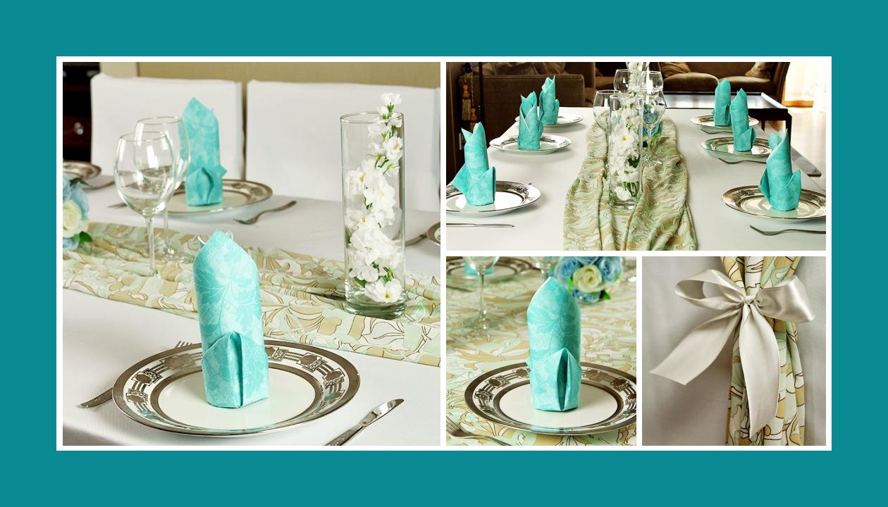 Deko Idee Hochzeit Türkis Weiß Blumen